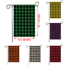 3 Pcs Grid Garden Decorative Flags, Double Sided Plaid Yard Flags for Decorating, 12