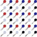Muka 100 Pcs Retractable ID Badge Clip, Nursing Badge Holder Lanyard Reels