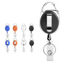 Muka 100 Pcs Badge Holder with clip and Key Ring, Retractable Lanyards for ID Cards and Keys