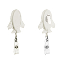 Muka 2 Pcs Retractable Airplane Shaped Badge Holders with Clips, White Badge Reels