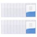 Muka 50 Pcs Clear ID Badge Holders, Hard Plastic Name Tag Holder