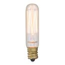 Bulbrite Incandescent T6 Candelabra Screw (E12) 25W Dimmable Nostalgic Light Bulb 2200K/Amber 4Pk (132506)