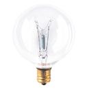 Bulbrite Incandescent G16.5 Candelabra Screw (E12) 25W Dimmable Light Bulb 2700K/Warm White 40Pk (391125)