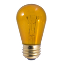 Bulbrite Incandescent S14 Medium Screw (E26) 11W Dimmable Light Bulb Transparent Amber 25Pk (701211)