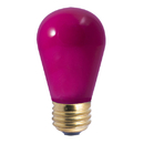 Bulbrite Incandescent S14 Medium Screw (E26) 11W Dimmable Light Bulb Ceramic Pink 25Pk (701601)