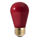 Bulbrite Incandescent S14 Medium Screw (E26) 11W Dimmable Light Bulb Ceramic Red 25Pk (701701)