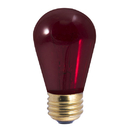 Bulbrite Incandescent S14 Medium Screw (E26) 11W Dimmable Light Bulb Transparent Red 25Pk (701711)