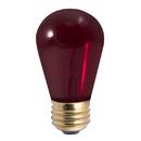 Bulbrite Incandescent S14 Medium Screw (E26) 11W Dimmable Light Bulb Transparent Red 25Pk (701711)