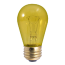 Bulbrite Incandescent S14 Medium Screw (E26) 11W Dimmable Light Bulb Transparent Yellow 25Pk (701811)