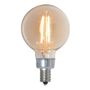 Bulbrite Led G16 Candelabra Screw (E12) 2.5W Dimmable Filament Light Bulb 2200K/Amber 25W Incandescent Equivalent 3Pk (776606)