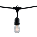 Bulbrite STRING10/E26/BLACK-S14KT 14' String Light Kit With (10Pcs) S14 Medium Screw (E26) 60W Dimmable (861431)