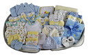 Bambini Boys 62 pc Baby Clothing Starter Set with Diaper Bag
