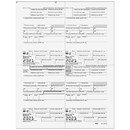Super Forms 80071 W-2 - Employee Copies B/C/2/2 - 4up Quadrant