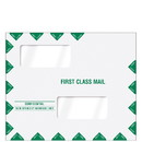 Super Forms 80343PS Double Window First Class Mailing Envelope - Peel & Close