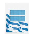 Super Forms CCLNT9D10 Double Window Mailing Envelope - Patriotic