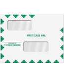 Super Forms ENV201PS Double Window First Class Envelope - Peel & Close