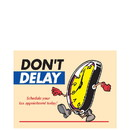 Super Forms PC23 Don't Delay Setting your Appointment Postcard - Clock Design