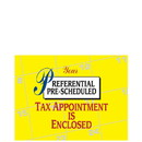 Super Forms PC35 Pre-Scheduled Tax Appointment Postcard - Calendar Design
