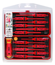 Bondhus E-Smart 14 pc Set - Slotted, Phillips, Pozidriv, Torx Tip Insulated Blades with 2 Handles in Clamshell