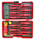 Bondhus E-Smart 14 pc Square 2 Set - Slotted, Phillips, Square, Torx Tip Insulated Blades with 2 Handles