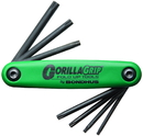 Bondhus Set 7 Tamper Resistant Tip GorillaGrip Fold-up Tools TR7-TR25