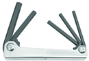 Bondhus Set 5 Hex Metal Handle Fold-up Tools 3/16-3/8
