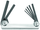 Bondhus Set 7 Hex Metal Handle Fold-up Tools 2-8mm