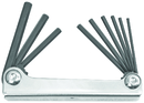 Bondhus Set 9 Hex Metal Handle Fold-up Tools 5/64-1/4