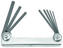 Bondhus Set 8 Hex Metal Handle Fold-up Tools .050-5/32