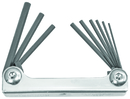 Bondhus Set 9 Hex Metal Handle Fold-up Tools .050-3/16