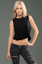 MOCO 4SMMJ252 eco-HYBRID Micro Jersey Cropped Muscle Tank