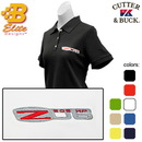 Belite Designs Belite Designs Z06 Corvette Embroidered Ladies Cutter & Buck Ace Polo Navy- Large -BDCZEPL832