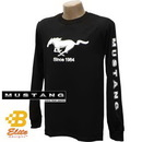 Belite Designs Belite Designs Ford Mustang Black Long Sleeved Shirt w/Script on Sleeves BLACK- XXX LARGE -BDFMST103