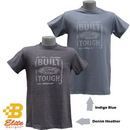 Belite Designs Belite Designs Built Ford Tough Distressed Look Tee DENIM HEATHER- XX LARGE -BDFMST125