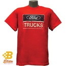 Belite Designs Belite Designs Ford Trucks Distressed Logo Tee Shirt RED- SMALL -BDFMST137