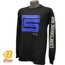 Belite Designs Shelby Signature Logo Long Sleeved Tee w/Sleeve Print Black- Large -BDSHST108
