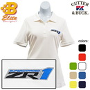 Belite Designs Belite Designs ZR1 Corvette Embroidered Ladies Cutter & Buck Ace Polo Hampstead Blue- X Large -BDZREPL834