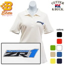 Belite Designs Belite Designs ZR1 Corvette Embroidered Ladies Cutter & Buck Ace Polo White- Large -BDZREPL834