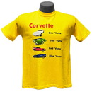 Belite Designs Belite Designs Children's 1 'Vette 2 'Vette Yellow Tee Shirt X SMALL (2-4) -