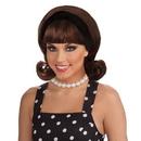 Rubies Costumes 50439 50's Flip Wig - Brown Adult