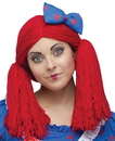 BuySeasons 112702 Raggedy Ann Wig w/Hat