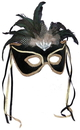 Forum Novelties 113421 Black Feather Couples Mask