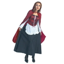 Disguise 171-I Red Riding Hood Deluxe Adult Costume, 12-14