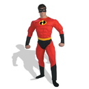 Disguise 124909 Disney Mr. Incredible Muscle Adult Costume - XL 42-46