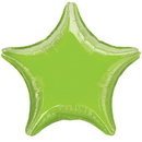 Party Destination 13002 Lime Green Star Foil Balloon