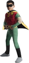 Rubies Costumes 882309S Teen Titans DC Comics Robin Muscle Chest Deluxe Toddler/Child Costume, Small (4-6)