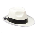 Forum Novelties 59360 White Gangster Hat