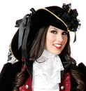 Charades Costumes 142023 Velvet Pirate Hat