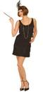 Forum Novelties 60853 Black Flapper Costume Adult, Medium/Large (8-12)