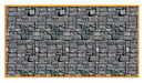 Beistle 146988 30' Stone Wall Backdrop